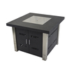 Pleasant Hearth 38-in W 40,000-BTU Matte Black and Stainless Steel Liquid Propane Fire Table