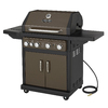 Dyna-Glo Bronze Metallic 4-Burner (12,000-BTU) Natural Gas Gas Grill with with Side Burner