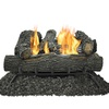 Pleasant Hearth 24-in 30000-BTU Dual Vent-Free Gas Fireplace Logs with Thermostat