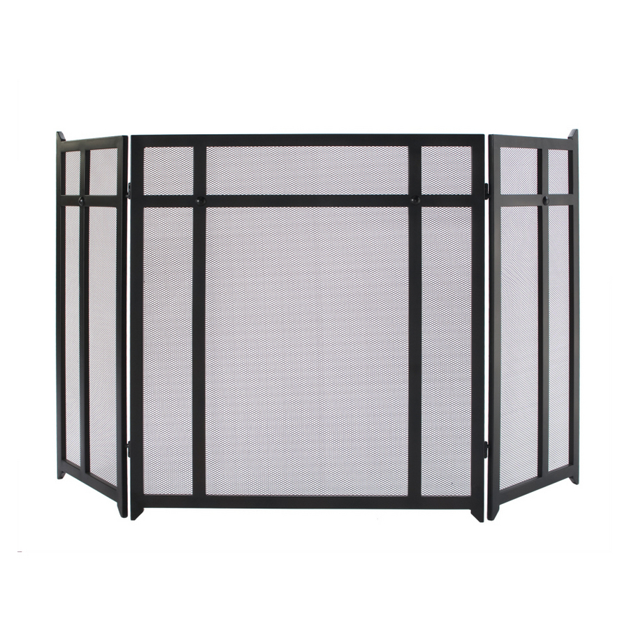shop allen roth 3 panel craftsman fireplace screen at