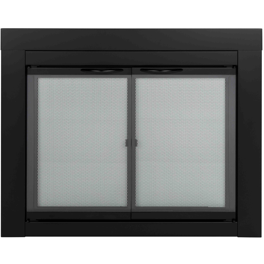 Shop Pleasant Hearth Alpine Black Medium Fireplace Doors At Lowes On