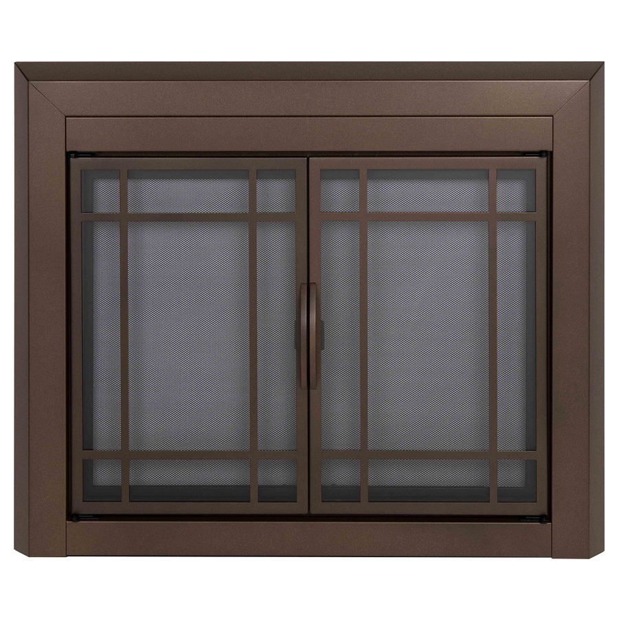 Shop Pleasant Hearth Enfield Burnished Bronze Medium Cabinet Style Fireplace Doors With Smoke