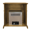 Pleasant Hearth 35.75-in Dual-Burner Vent-Free Heritage Corner Liquid Propane or Natural Gas Fireplace with Thermostat