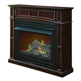 Pleasant Hearth 45.7-in Dual-Burner Vent-Free Tobacco Corner Liquid Propane or Natural Gas Fireplace with Thermostat