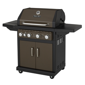 Dyna-Glo Bronze 4-Burner (48,000-BTU) Liquid Propane Gas Grill with with Side Burner