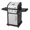 Dyna-Glo Stainless Steel and Black 3-Burner (36,000-BTU) Liquid Propane Gas Grill