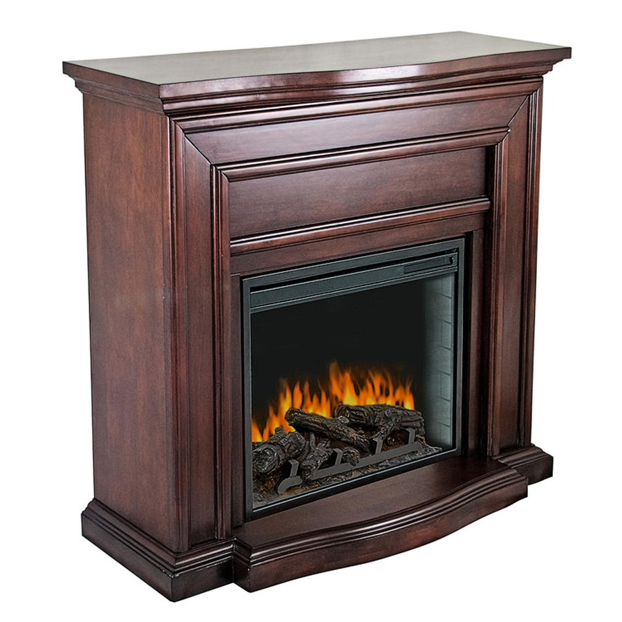 shop pleasant hearth 42 in w 4 600 btu mahogany wood wall