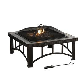 Garden Treasures 30&#034; Black Steel Wood-Burning Fire Pit