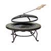 Pleasant Hearth 34-in W Rubbed Bronze Steel Wood-Burning Fire Pit
