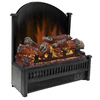 Pleasant Hearth 23-in 4,600-BTU Black Electric Fireplace Logs with Remote Control