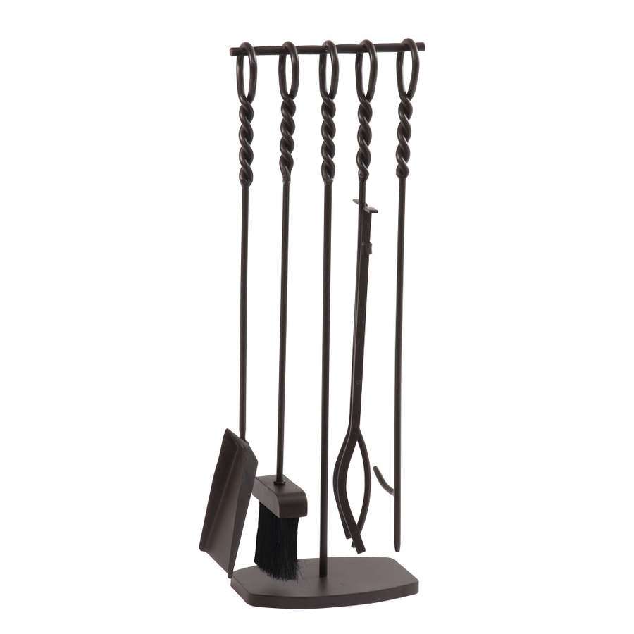 shop style selections 5 piece metal fireplace tool set at