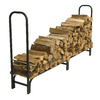 Pleasant Hearth 49-in x 13.5-in x 96-in Steel Half Cord Firewood Rack