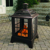 Pleasant Hearth 28.25-in W Rubbed Bronze Steel Wood-Burning Fire Pit