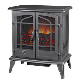 Style Selections 25-in W 4,600-BTU Black Metal Corner or Wall-Mount Electric Stove