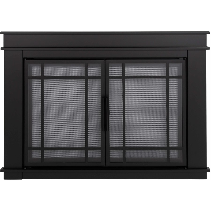 shop pleasant hearth midnight black large cabinet style