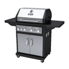 Dyna-Glo Black and Stainless Steel 4-Burner (60,000-BTU) Liquid Propane Gas Grill with Side Burner