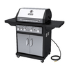 Dyna-Glo Black and Stainless Steel 4-Burner (60,000-BTU) Natural Gas Grill with Side Burner
