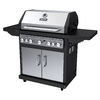 Dyna-Glo Black and Stainless Steel 5-Burner (79,000-BTU) Liquid Propane Gas Grill with Side and Rotisserie Burner