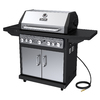 Dyna-Glo Black and Stainless Steel 5-Burner (79,000-BTU) Natural Gas Grill with Side and Rotisserie Burner