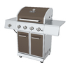 Dyna-Glo Bronze and Stainless Steel 4-Burner (52,000-BTU) Liquid Propane Gas Grill with with Side Burner