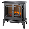 Pleasant Hearth 24-in W 4,600-BTU Black Metal Fan-Forced Electric Stove