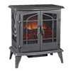 Pleasant Hearth 25-in W 4,600-BTU Black Metal Fan-Forced Electric Stove