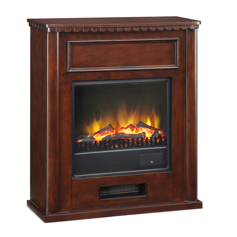 Shop Pleasant Hearth 28 In W 4 600 Btu Merlot Wood Fan Forced Electric Fireplace At