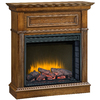 Pleasant Hearth 34.2-in W 4,600-BTU Heritage Wood and Metal Fan-Forced Electric Fireplace with Thermostat and Remote Control