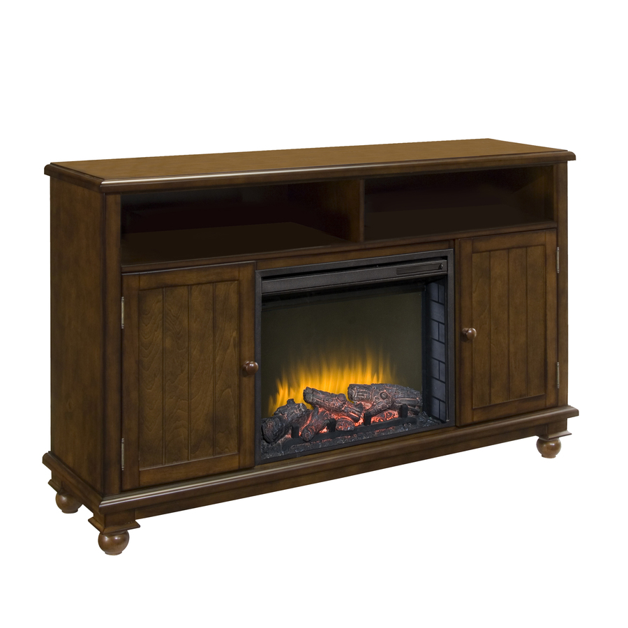 Shop Pleasant Hearth 57 In W 4 600 Btu Heritage Wood Fan Forced Electric Fireplace With