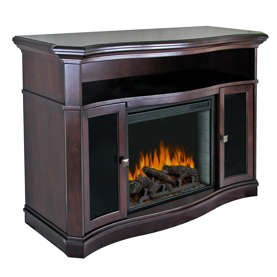 Shop Pleasant Hearth 54 In W 4 600 Btu Merlot Wood Fan Forced Electric Fireplace With Thermostat