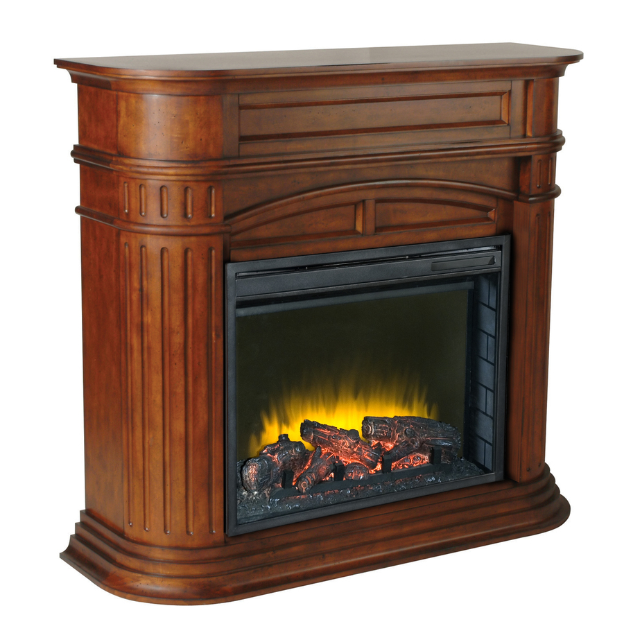 Shop Pleasant Hearth 46 In W 4 600 Btu Chestnut Wood Fan Forced Electric Fireplace With