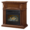Pleasant Hearth 35.75-in Dual-Burner Vent-Free Cherry Corner Liquid Propane or Natural Gas Fireplace with Thermostat