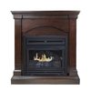 Pleasant Hearth 35.75-in Dual-Burner Vent-Free Tobacco Corner Liquid Propane or Natural Gas Fireplace with Thermostat