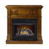 Pleasant Hearth 42-in Dual-Burner Vent-Free Heritage Corner Liquid Propane or Natural Gas Fireplace with Thermostat