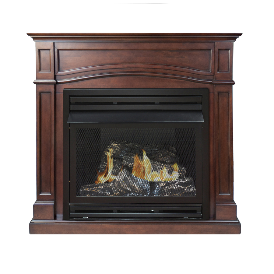 Shop Pleasant Hearth Dual Burner Vent Free Cherry Flat Wall Liquid Propane And Natural