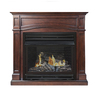 Pleasant Hearth 45.875-in Dual-Burner Vent-Free Cherry Liquid Propane or Natural Gas Fireplace with Thermostat