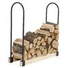 Pleasant Hearth 48-in x 14-in Steel Adjustable Firewood Rack