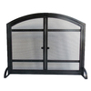 Pleasant Hearth 39-in Antique Black Steel 2-Panel Arched Twin Fireplace Screen