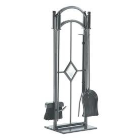 shop pleasant hearth 5 steel fireplace tool set at