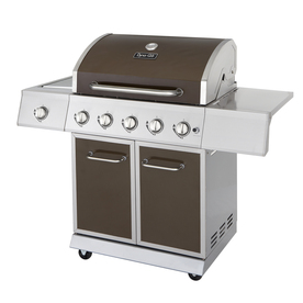 Dyna-Glo Stainless Steel and Burnished Bronze 5-Burner (50,000-BTU) Liquid Propane Gas Grill with with Side Burner