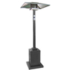 Garden Treasures 38000 BTU Hammered Black Steel Liquid Propane Patio Heater