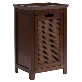 Elegant Home Fashions Wood Composite Clothes Hamper