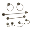 Elegant Home Fashions 8-Piece Hammer Antique Brass Decorative Bathroom Hardware Set