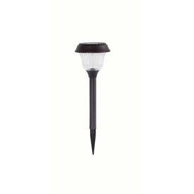 shop portfolio bronze solar powered led path light at. Black Bedroom Furniture Sets. Home Design Ideas