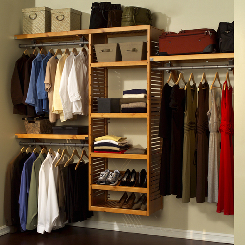 John Louis Home Wood Hanging Closet Organizer System From Lowes Organization Furniture
