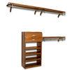 John Louis Home 10-ft Carmel Wood Closet Kit