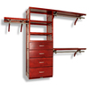 John Louis Home 10-ft x 96-ft Red Mahogany Wood Closet Kit