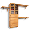John Louis Home 10-ft x 96-ft Honey Maple Wood Closet Kit