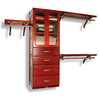 John Louis Home 10-ft x 8-ft Red Mahogany Wood Closet Kit
