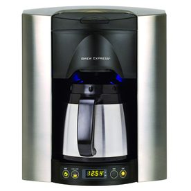 Shop BREW EXPRESS Satin Chrome 4-Cup Programmable Coffee Maker at Lowes.com